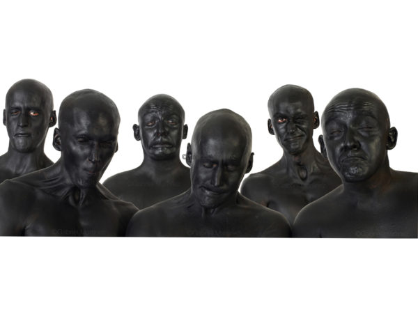 photographie d'art hommes en noir