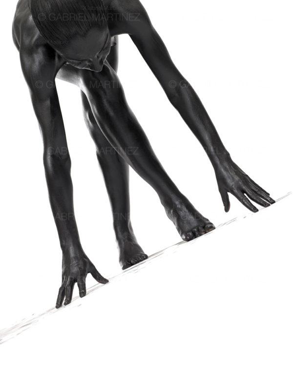 jeux de mains série noire photographie