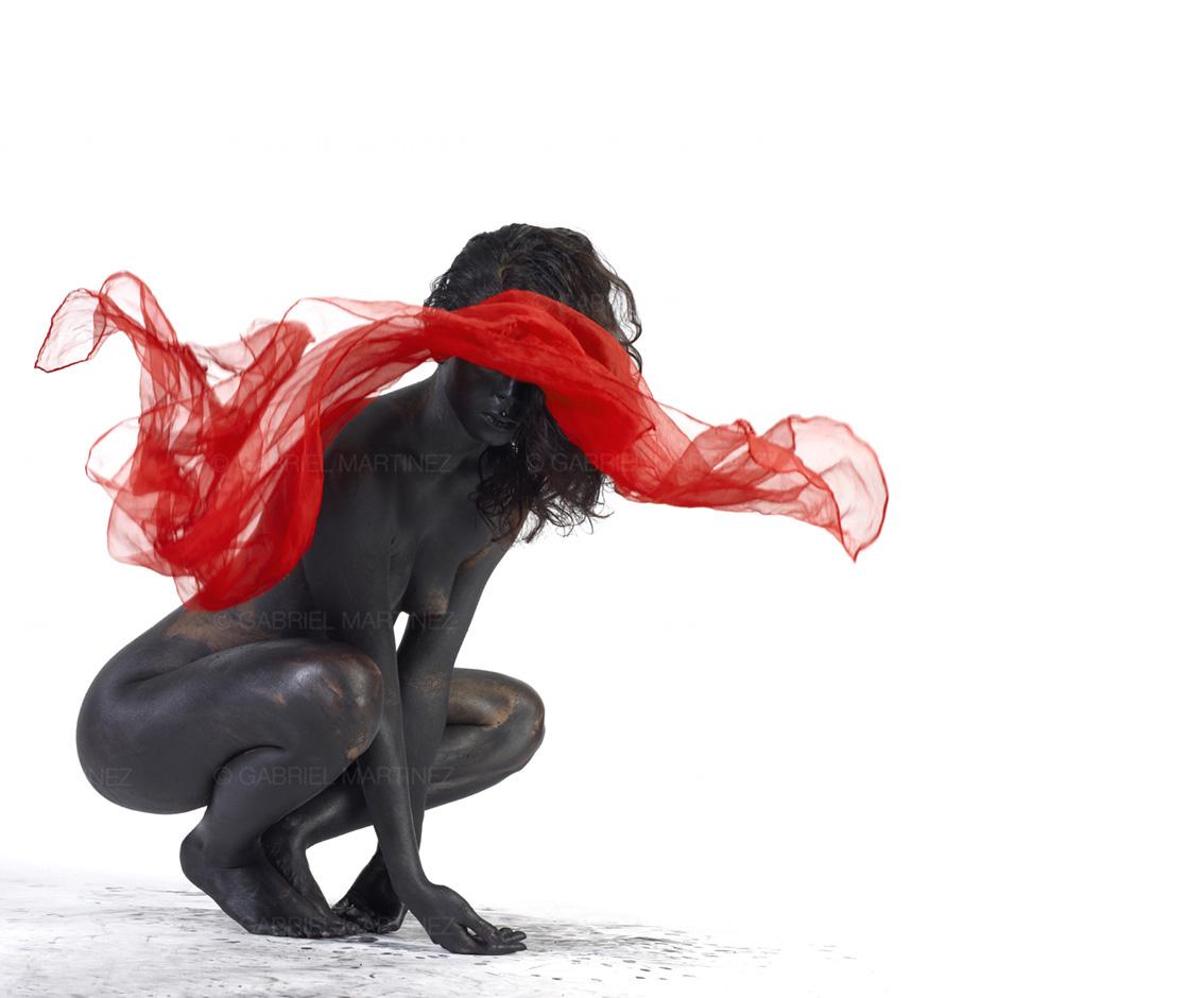 red girl photo art nice martinez